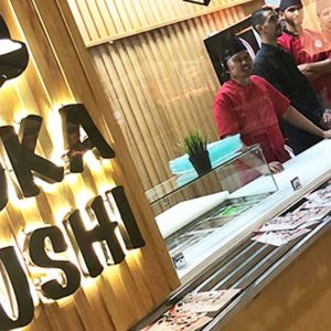 Ouverture Yoka Sushi Food court Label'Gallery Rabat