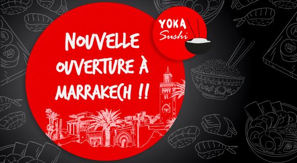 Ouverture Yoka Sushi Marrakech
